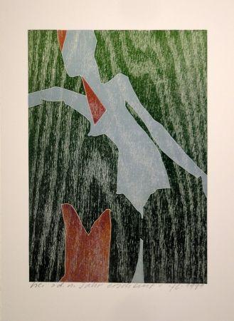 Woodcut Eggenschwiler - D. n. Jahr erscheint