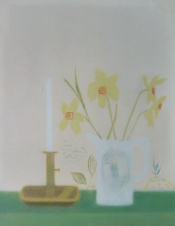 Screenprint Aitchison - Daffodils & Candlestick