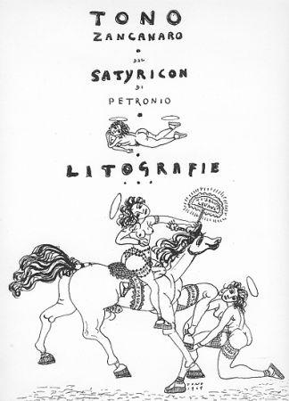 Lithograph Zancanaro - Dal Satiricon di Petronio