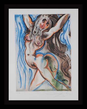 Lithograph Dali - Dalinean Horses Woman-Horse