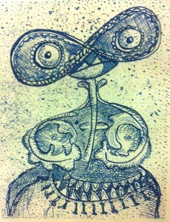 Engraving Baj - Dama
