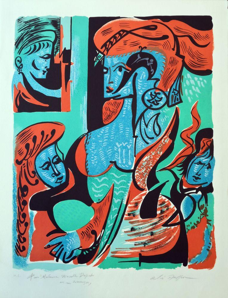 Lithograph Masson - Dames