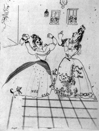 Engraving Chagall - Dames charmantes et charmantes à tous égards