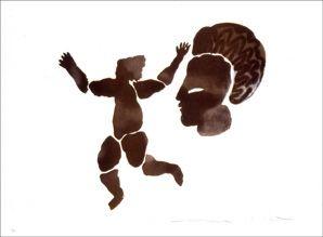 Lithograph Del Re - Danse noire