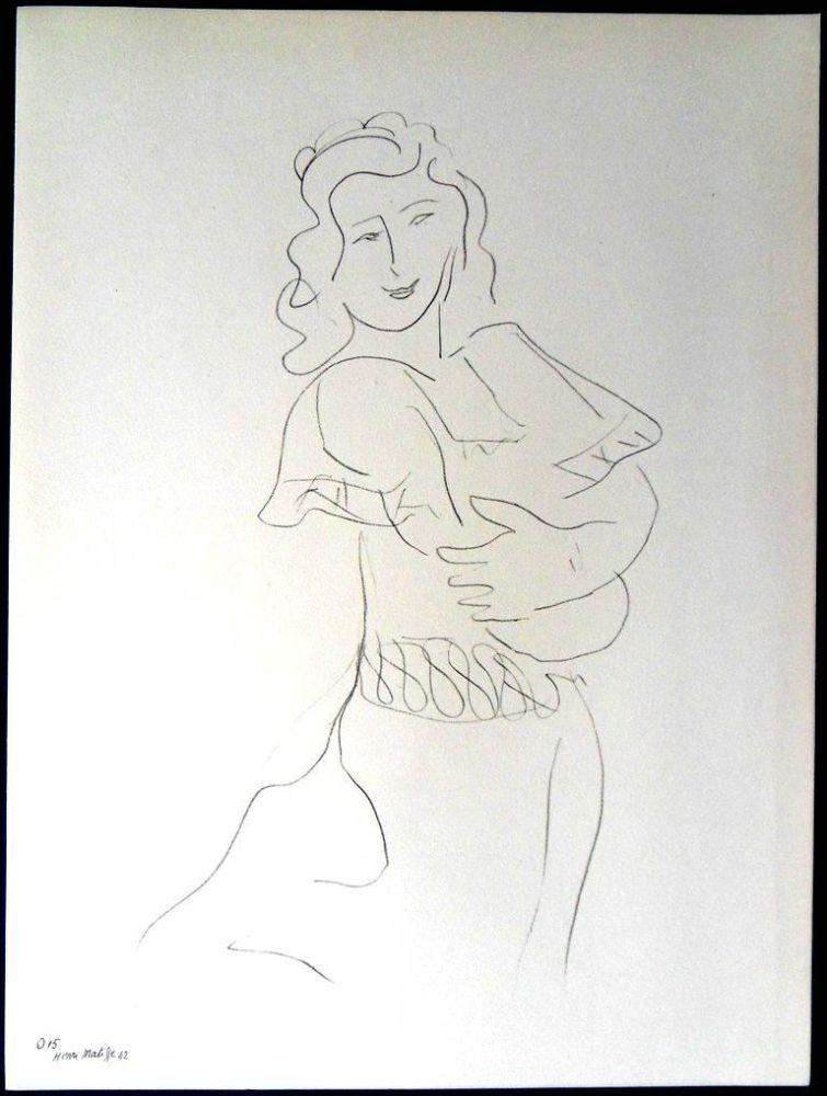 Lithograph Matisse - Danseur