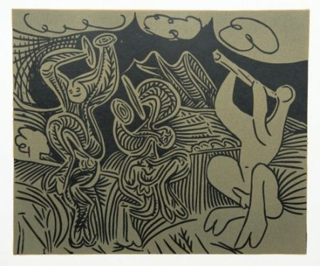 Etching Picasso - Danseurs et Musicien