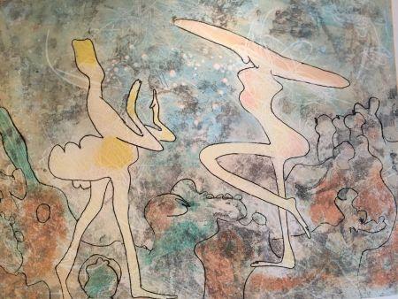 Lithograph Matta - Danseuse