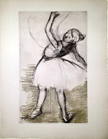 Etching And Aquatint Degas - Danseuse (étude, vers 1880)