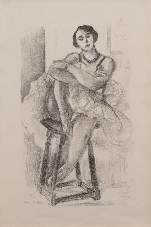 Lithograph Matisse - Danseuse au Tabouret, from Dix Danseuses