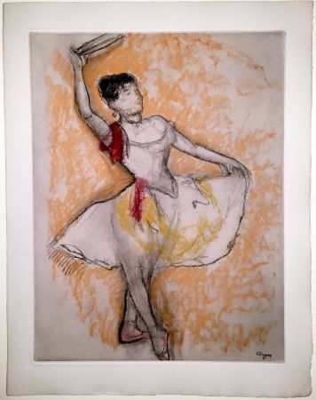 Etching And Aquatint Degas - Danseuse au tambourin (1882)