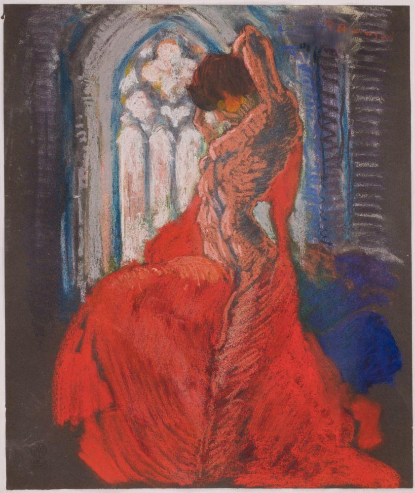 No Technical Masui - Danseuse au voile rouge et vitrail