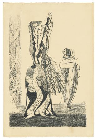 Lithograph Ernst - Danseuses
