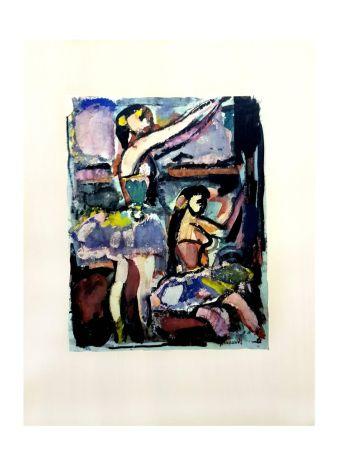 Lithograph Rouault - Danseuses