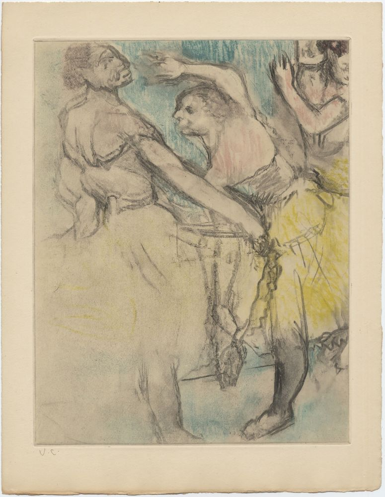 Etching And Aquatint Degas - Danseuses à l'Opéra (étude, vers 1880)