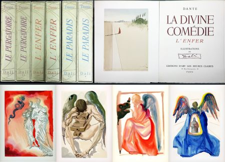 Illustrated Book Dali - Dante : LA DIVINE COMÉDIE. 6 volumes. 100 planches couleurs. (1959)