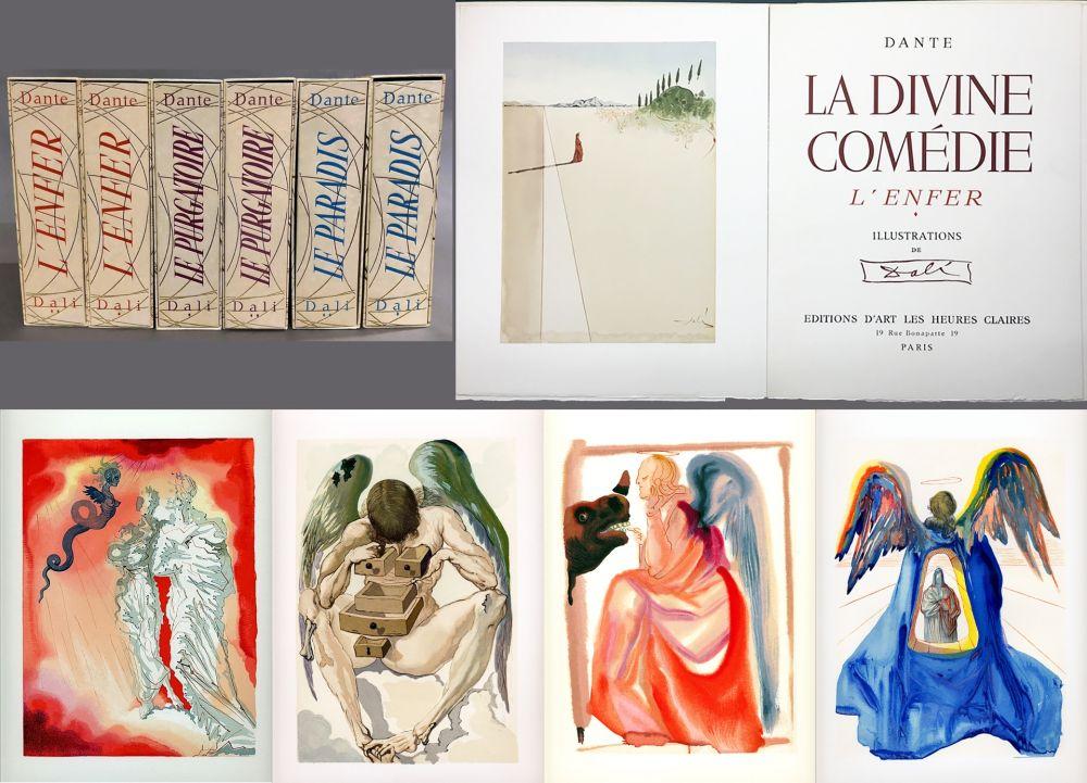 Illustrated Book Dali - Dante : LA DIVINE COMÉDIE. 6 volumes. 100 planches couleurs et suites de décompositions de couleurs.(1959)