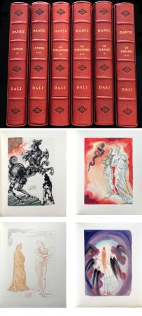 Illustrated Book Dali - Dante : LA DIVINE COMÉDIE. 6 volumes reliures éditeur. 100 planches couleurs signées. (1959)