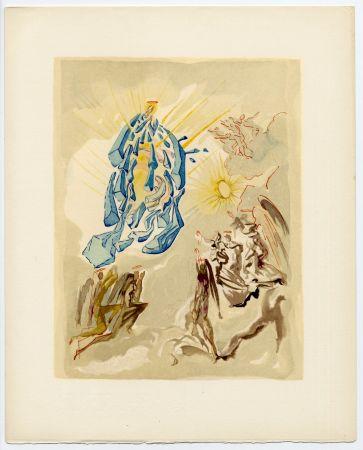 Woodcut Dali - Dante recouvre la vue. La Divine Comédie (Le Paradis, Chant 26)
