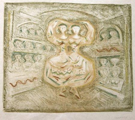 Lithograph Campigli - Danzatrici
