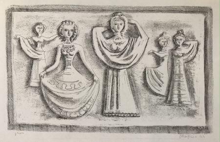 Lithograph Campigli - DANZE NOTTURNE