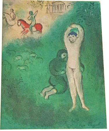 Lithograph Chagall - Daphnis and Chloe