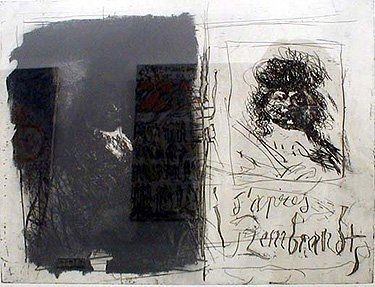 Etching And Aquatint Clavé - D'apres Rembrandt I-I