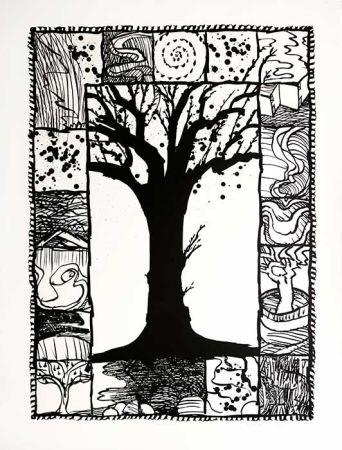 Lithograph Alechinsky - D'arbre et d'encre