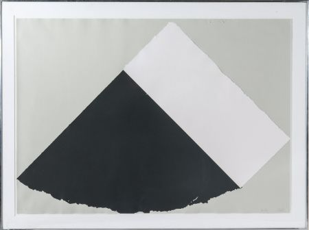 Screenprint Kelly - Dark Gray and White