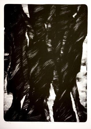 Lithograph Tøjner - Dark shadows of central park