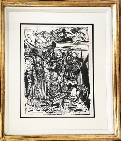 Lithograph Picasso - David and Bathsheba (After Lucas Cranach)
