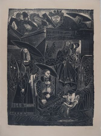 Lithograph Picasso - DAVID ET BETHSABÉE