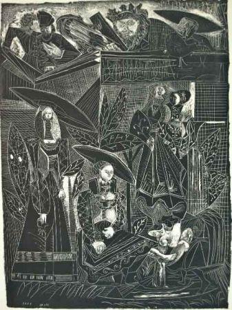 Lithograph Picasso - DAVID Y BETHSABÉE