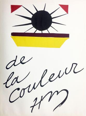 Lithograph Matisse - DE LA COULEUR  (Pour la revue Verve n°13, 1945)