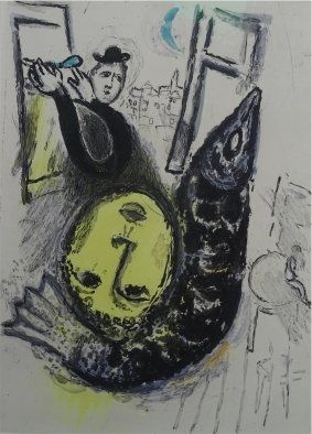 Etching And Aquatint Chagall - De Mauvais Sujets,plate nr.3