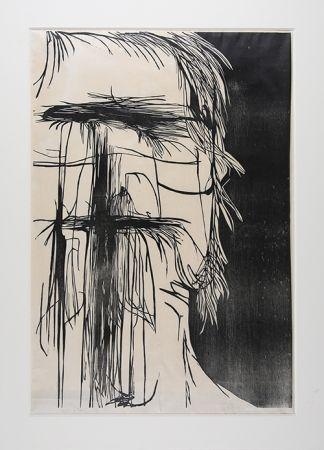 Woodcut Baskin - Dead Saint