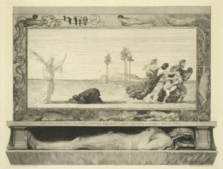 Etching And Aquatint Klinger - Death as Savior, from the portfolio