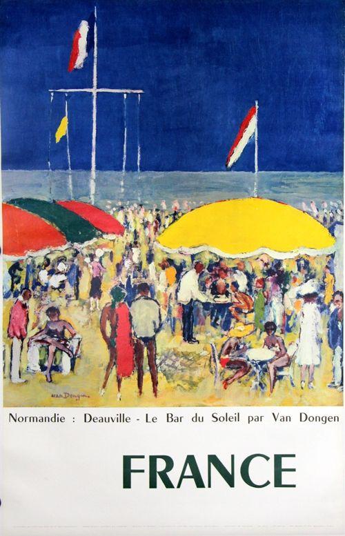 Offset Van Dongen - Deauville  Le Bar Au Soleil  Normandie