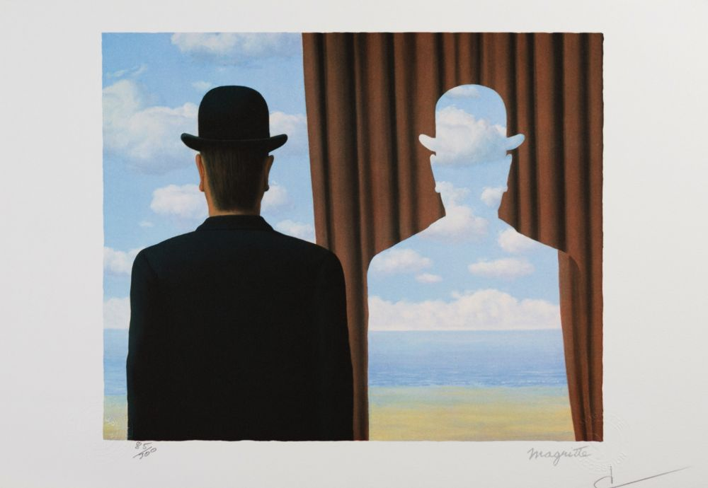 Lithograph Magritte - Decalcomanie