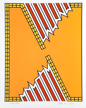 Screenprint Krushenick - Deep Down Orange