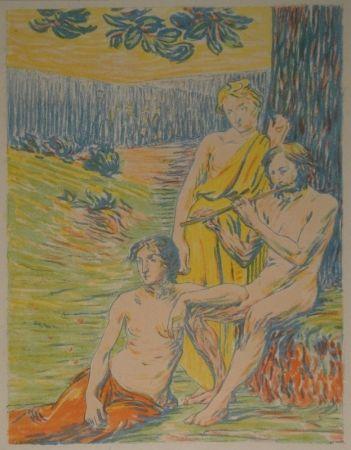 Lithograph Petitjean - Dekorativer Entwurf