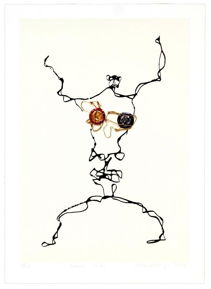 Lithograph Phillipe - Demi-dieu