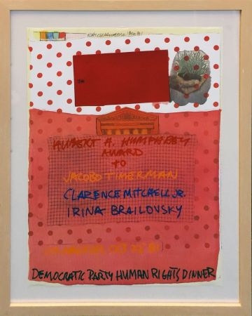 Lithograph Rauschenberg - DEMOCRATIC PARTY HUMAN RIGHTS DINNER