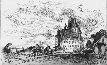 Engraving Jongkind - Demolitions de la rue des Francs-Bourgeois Saint-Marcel