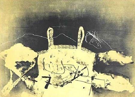 Lithograph Tàpies - Dentelle