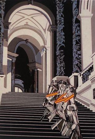Screenprint Equipo Cronica - Denudo bajando la escalera (carpeta composiciones)