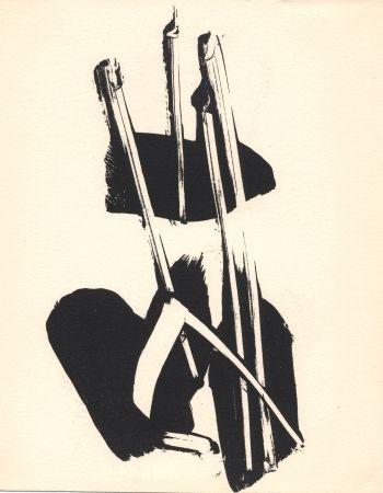 Lithograph Soulages - Depaysage