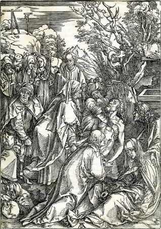 Woodcut Durer - Deposition of Christ (The Large Passion), c. 1496-97