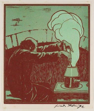 Woodcut König  - Der Alchemist (The Alchemist)