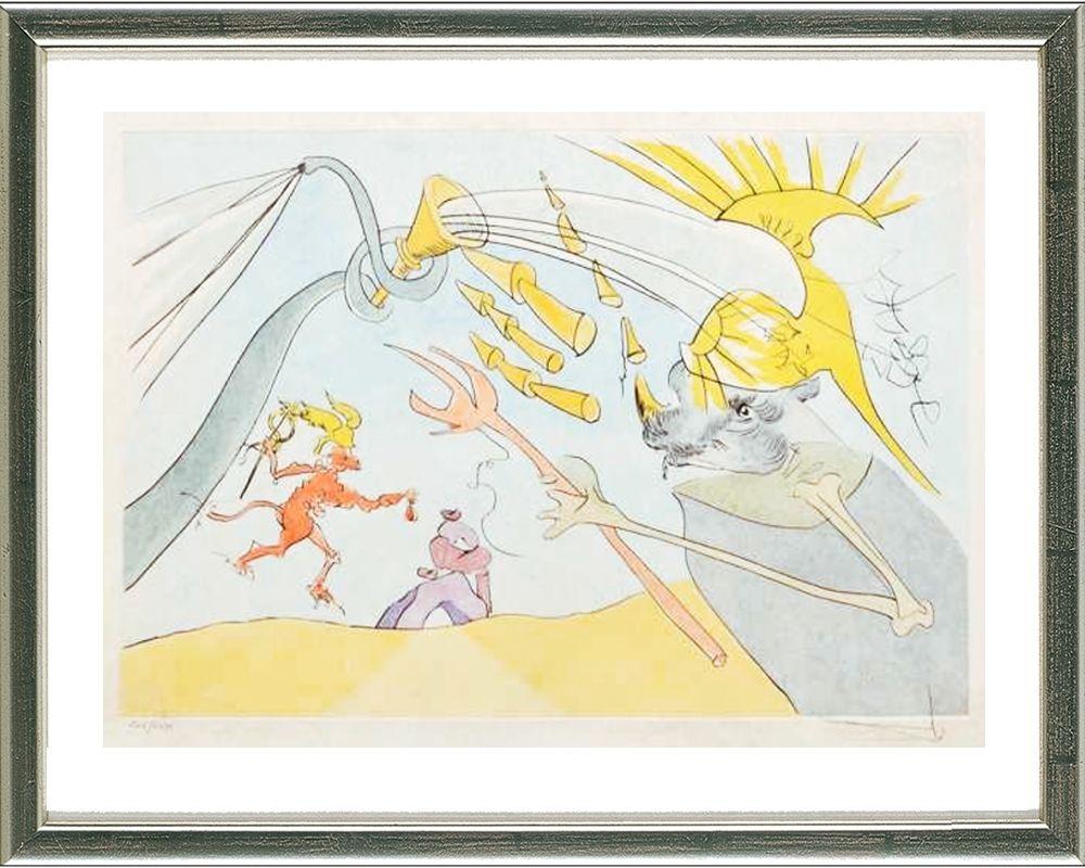 1e102cebee6 Contact the Dealer Drypoint Dali - Der Elefant und der Affe Jupiters   The  elephant and Jupiter s monkey