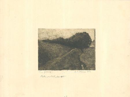 Etching Philipp - Der Feldweg